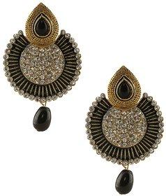 Jewels Capital Exclusive Golden Black Earrings Set /S 1577