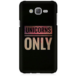 RAYITE Unicorns Only Premium Printed Mobile Back Case Cover For Samsung J2 2016