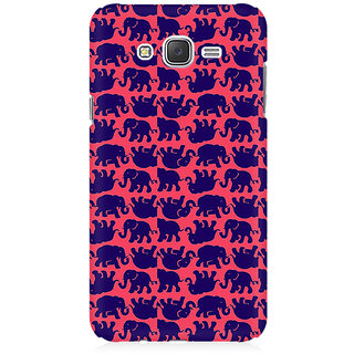 RAYITE Elephant Pattern Premium Printed Mobile Back Case Cover For Samsung J2 2016