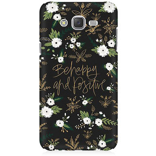 RAYITE Be Happy Premium Printed Mobile Back Case Cover For Samsung J2 2016