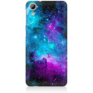 RAYITE Blue Galaxy Premium Printed Mobile Back Case Cover For HTC Desire 820