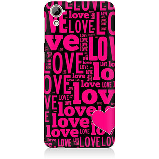 RAYITE Love Pattern Premium Printed Mobile Back Case Cover For HTC Desire 820