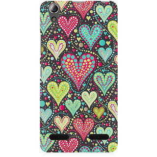 RAYITE Hearts Pattern Premium Printed Mobile Back Case Cover For Lenovo A6000