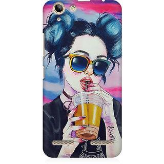 RAYITE Cool Girl Premium Printed Mobile Back Case Cover For Lenovo K5 Plus