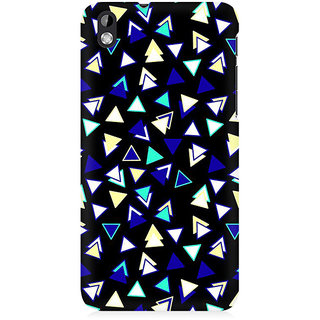 RAYITE Little Triangles Pattern Premium Printed Mobile Back Case Cover For HTC Desire 816