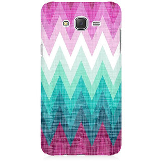 RAYITE Colourful Chevron Premium Printed Mobile Back Case Cover For Samsung J3