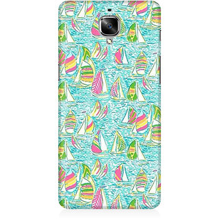 RAYITE Yatch Pattern Premium Printed Mobile Back Case Cover For OnePlus Three