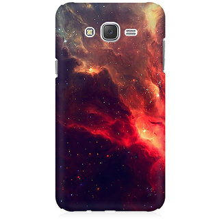 RAYITE Red Galaxy Premium Printed Mobile Back Case Cover For Samsung J3