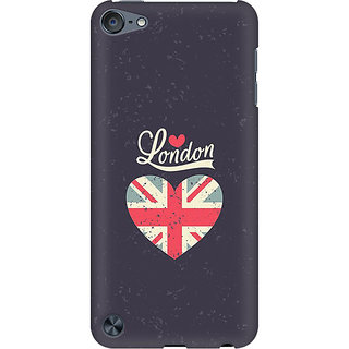 RAYITE London Love Preum Printed Mobile Back Case Cover For  IPod Touch 5