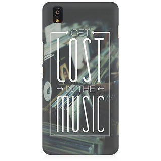 RAYITE Lost In The Music Premium Printed Mobile Back Case Cover For OnePlus X