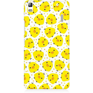 RAYITE Chicken Pattern Premium Printed Mobile Back Case Cover For Lenovo A7000