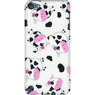 RAYITE Cute Cow Pattern Preum Printed Mobile Back Case Cover For  IPod Touch 5
