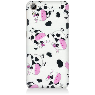 RAYITE Cute Cow Pattern Premium Printed Mobile Back Case Cover For HTC Desire 820