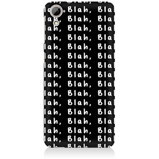 RAYITE Blah Blah Blah Pattern Premium Printed Mobile Back Case Cover For HTC Desire 820