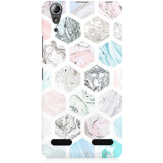 RAYITE Colourful Marble Abstract Premium Printed Mobile Back Case Cover For Lenovo A6000
