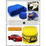 Vheelocity Multi Purpose Microfiber Dry Wet Cleaning Polishing Cloth + Waxpol Ultra Glo Polish With Uv Guard 100Gms