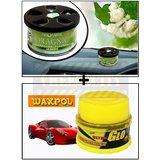 Vheelocity Aromate Organic Car Perfume Air Freshener - Jasmine + Waxpol Ultra Glo Polish With Uv Guard 100Gms