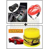Vheelocity Universal Micro Usb Car Phone Charger With Aux Cable + Waxpol Ultra Glo Polish With Uv Guard 100Gms