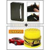 Vheelocity 2 In 1 Automatic Cigarette Holder Dispenser Case And Refillabe Gas Lighter + Waxpol Ultra Glo Polish With Uv Guard 100Gms