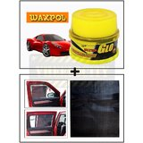 Vheelocity Waxpol Ultra Glo Polish With Uv Guard 100Gms + Electrostatic Car Sunshades That Stick Without Any Suction Or Tape