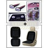 Vheelocity Aromate Aroma Clip Unique Car Perfume + Car Wooden Bead Seat Cushion With Black Velvet Border