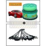 Vheelocity Waxpol 2 In 1 Cleaner Cum Polish 100G + Titoni 11 In 1 Universal Car Mobile Charger