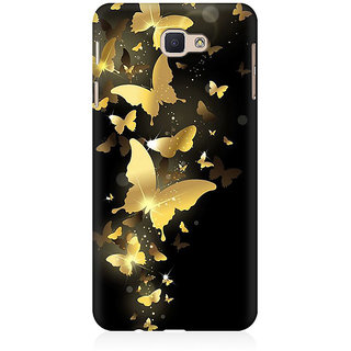 RAYITE Golden Butterflies Premium Printed Mobile Back Case Cover For Samsung J5 Prime