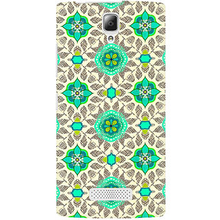 RAYITE Green Mandala Pattern Premium Printed Mobile Back Case Cover For Lenovo A2010