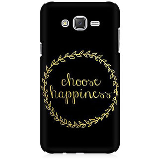 RAYITE Choose Happiness Premium Printed Mobile Back Case Cover For Samsung J2 2016