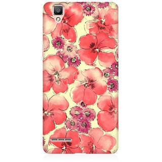RAYITE Watercolor Flower Abstract Premium Printed Mobile Back Case Cover For Oppo A35