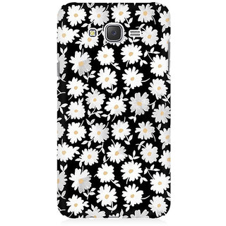 RAYITE White Daisy Pattern Premium Printed Mobile Back Case Cover For Samsung J2 2016