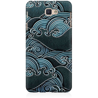 RAYITE Black Sea Waves Premium Printed Mobile Back Case Cover For Samsung J5 Prime