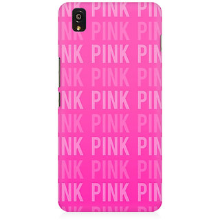 RAYITE Pink Love Pattern Premium Printed Mobile Back Case Cover For OnePlus X
