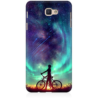 RAYITE Dream On Galaxy Premium Printed Mobile Back Case Cover For Samsung J5 Prime