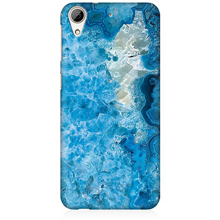 RAYITE Ice Blue Marble Premium Printed Mobile Back Case Cover For HTC Desire 626
