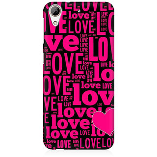 RAYITE Love Pattern Premium Printed Mobile Back Case Cover For HTC Desire 626
