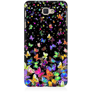 RAYITE Colourful Butterfly Pattern Premium Printed Mobile Back Case Cover For Samsung J5 Prime