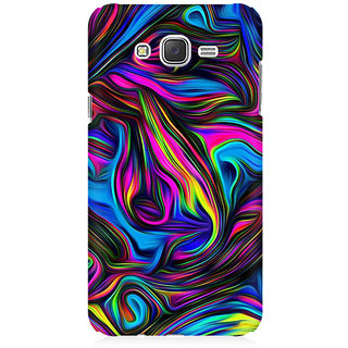 RAYITE Colourful Abstract Premium Printed Mobile Back Case Cover For Samsung J7 2016 Version
