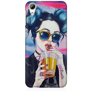 RAYITE Cool Girl Premium Printed Mobile Back Case Cover For HTC Desire 626