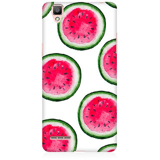 RAYITE Watercolor Watermelon Pattern Premium Printed Mobile Back Case Cover For Oppo A35