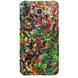RAYITE Colourful Splash Premium Printed Mobile Back Case Cover For Samsung J3