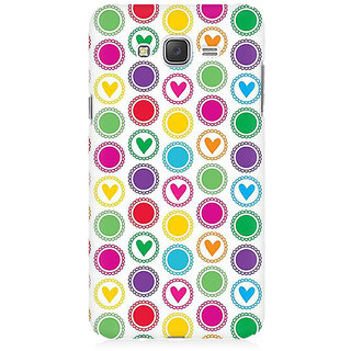 RAYITE Little Hearts Premium Printed Mobile Back Case Cover For Samsung J3