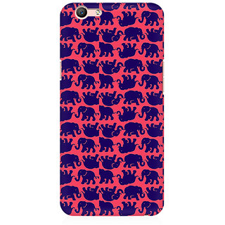 RAYITE Elephant Pattern Premium Printed Mobile Back Case Cover For Oppo A59