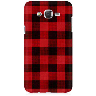 RAYITE Plaid Pattern Premium Printed Mobile Back Case Cover For Samsung J7 2016 Version