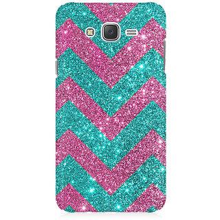 RAYITE Glitter Print Chevron Premium Printed Mobile Back Case Cover For Samsung J7 2016 Version