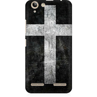 RAYITE Cross Print Premium Printed Mobile Back Case Cover For Lenovo Lemon 3