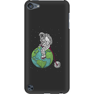RAYITE Space Ride Preum Printed Mobile Back Case Cover For  IPod Touch 6