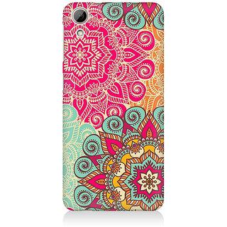 RAYITE Colourful Mandala Art Premium Printed Mobile Back Case Cover For HTC Desire 820