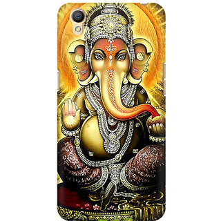 RAYITE Lord Ganesha Premium Printed Mobile Back Case Cover For Oppo A37