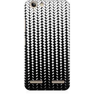 RAYITE Black And White Geometric Premium Printed Mobile Back Case Cover For Lenovo K5 Plus